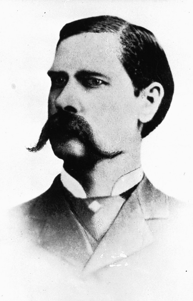Wyatt Earp in a portrait made after the gunfight at the OK Corral in Tombstone, Ariz., in 1881.