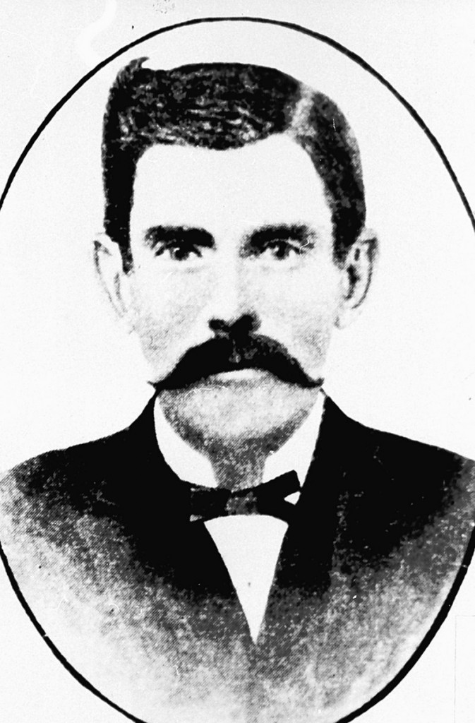 Doc Holliday in a portrait made after the gunfight at the OK Corral.