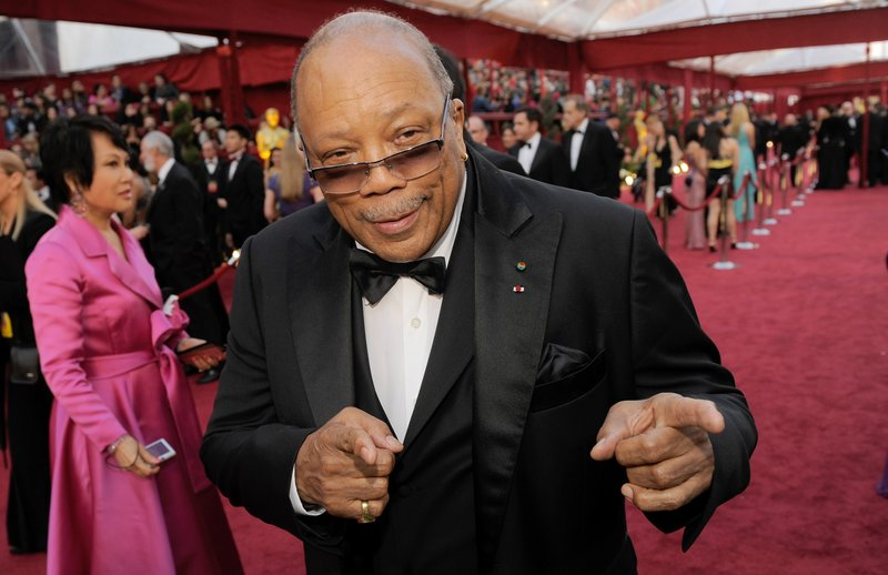 Composer and record producer Quincy Jones attributes his success in the music industry to maintaining an open mind.