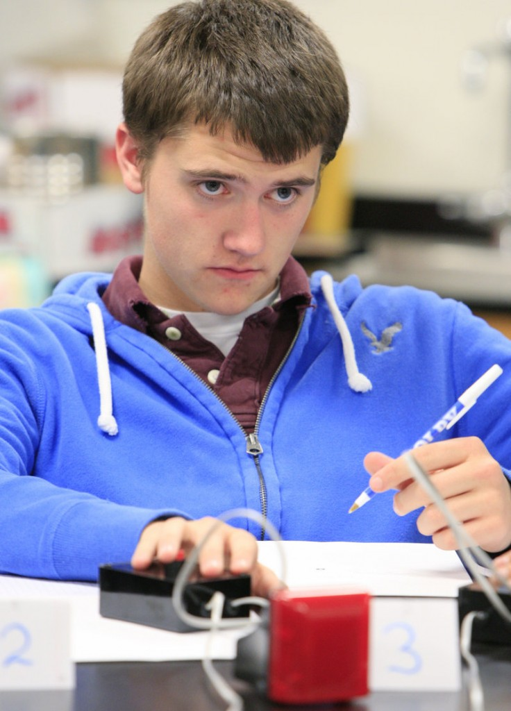 Tyler Evers is one of five Falmouth High School seniors who will compete in the National Science Bowl.