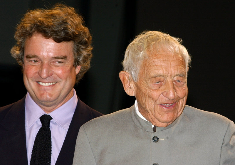 Artists Jamie Wyeth, left, and his father, Andrew, who died in 2009, approved the screen play for a major film about America's first family of art. Producers hope to use Maine locations.