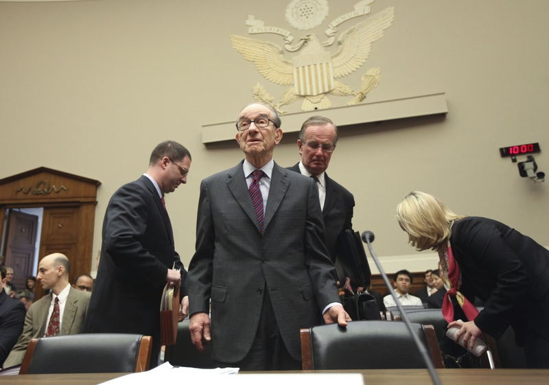 Former Federal Reserve Chairman Alan Greenspan arrives Wednesday on Capitol Hill to testify before the commission examining the causes of the financial collapse that started in September 2008. Today the commission will hear from Chuck Prince, the former Citigroup CEO, and Robert Rubin, a former Citi executive.