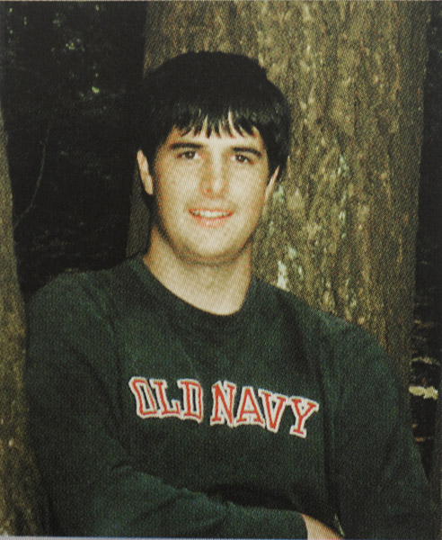 Copy photo of Eric Benson from the 2005 Westbrook High School yearbook.