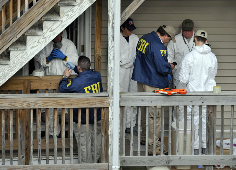 FBI search a house where Faisal Shahzad lived in Bridgeport, Conn., today. Shahzad was taken into custody late Monday by FBI agents and New York Police Department detectives while trying to leave the country.