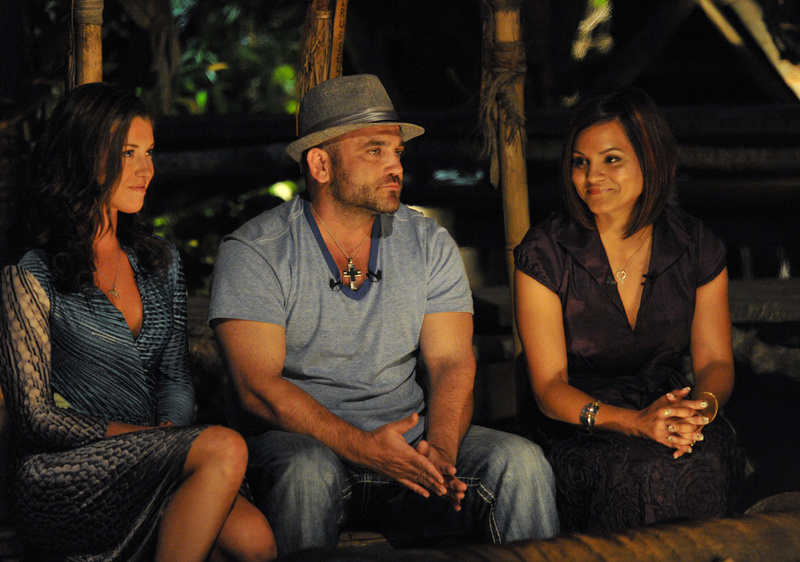 As the votes from the final Tribal Council are read, Sandra Diaz-Twine, right, is revealed to be the winner on a special two-hour season finale of