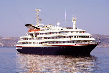 The 100-passenger Clelia II is scheduled to arrive in Portland at 1 p.m. on Monday.
