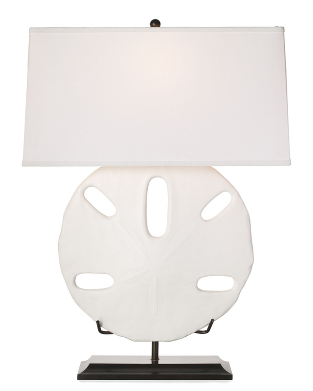 A sand dollar lamp from Williams-Sonoma. 2524 WSH