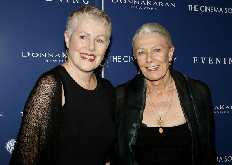 Sisters Lynn Redgrave, left, and Vanessa Redgrave arrive at the premiere of