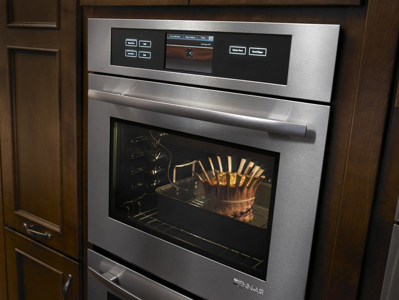 Jenn-Air's new wall ovens feature a culinary center with touch screen image-enabled guidance for more than 50 food options.