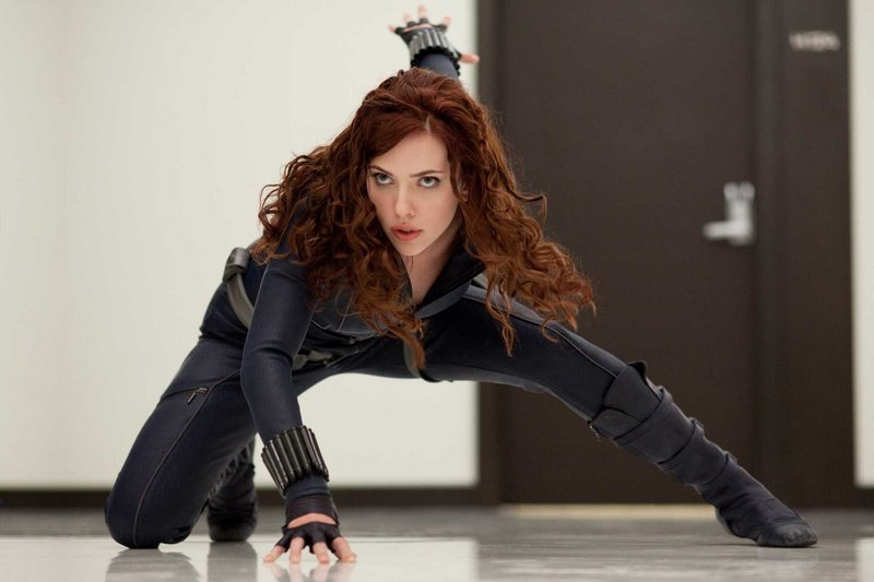 Scarlett Johansson brings the va-voom and the venom as Natasha Romanoff (aka the Black Widow) in