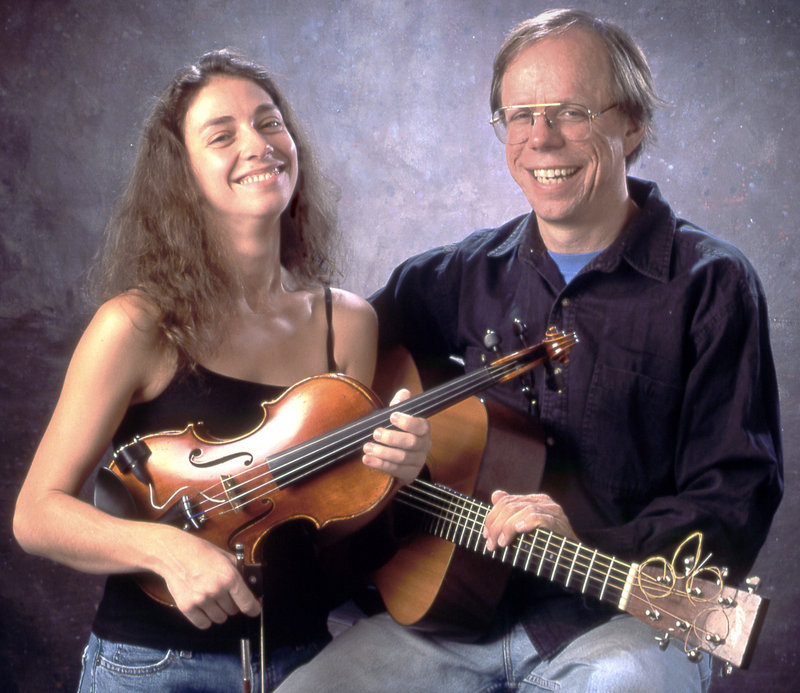 Musicians Eden MacAdam-Somer and Larry Unger, who make up the duo Notorious, will perform at 7 p.m. on Thursday at the Camden Library Coffeehouse.
