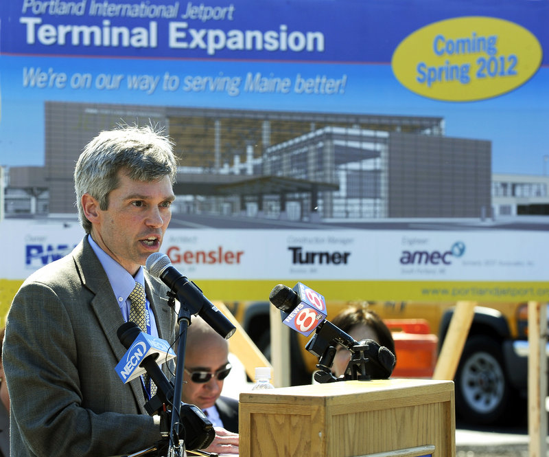 Paul Bradbury, director of the jetport, says the jetport expansion project will use state-of-the-art energy efficiency and green technology in its construction and use.