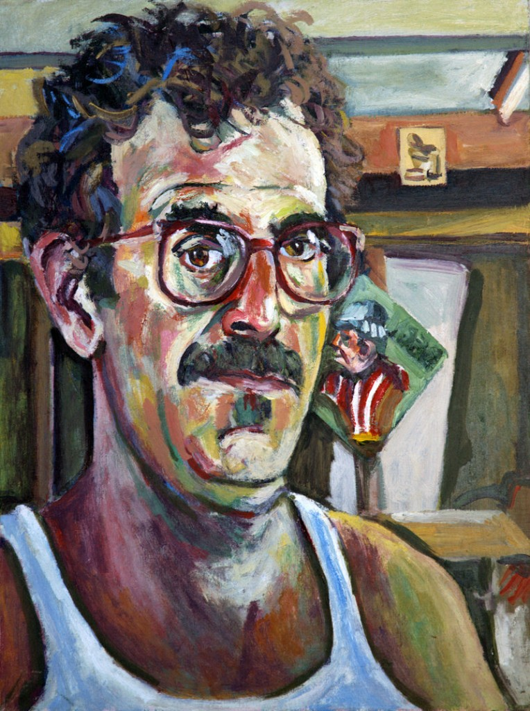 """Self Portrait with Profile of Bern Porter,"" 1986"