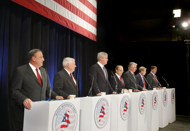 Republican candidates for governor line up for a debate on May 7. Backers of hopefuls on both sides of the aisle offer their opinions today.
