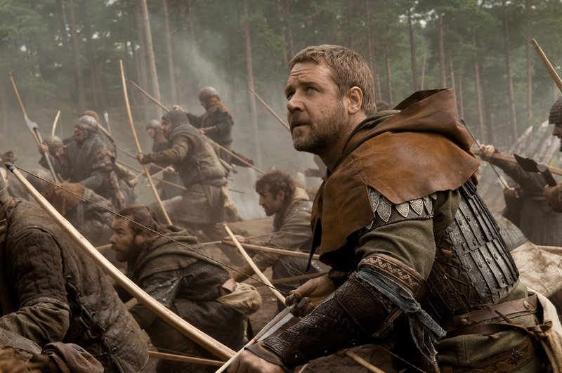 """Russell Crowe stars in the title role in director Ridley Scott's new movie, """"Robin Hood."""""""