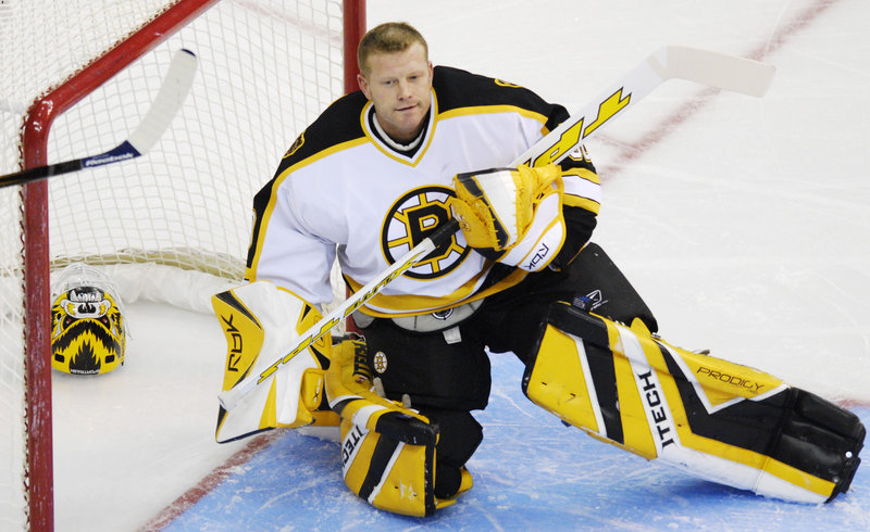 Tim Thomas, goalie for the Boston Bruins, believes his hockey camps provide the quality instruction youngsters need to become proficient in the sport.