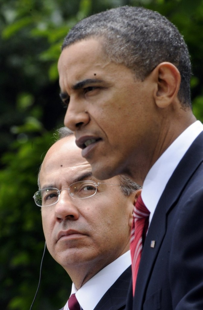 President Obama and Felipe Calderon meet Wednesday.