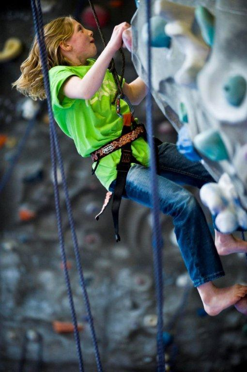 Rock climbing is another one of Chelsea Piers' activities.