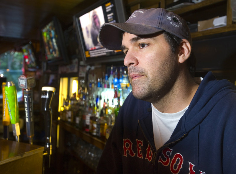 Bartender Jeff Nappi, of the ForePlay bar on Fore Street in Portland, says the text message system will allow him to alert other bars about patrons that might be looking for trouble.
