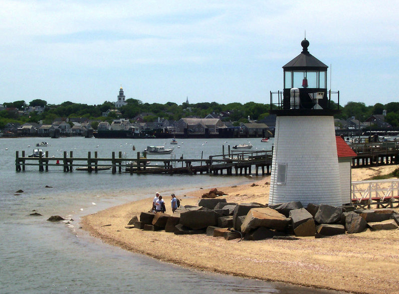 Brant Point Light sits at the entrance to the harbor next to Nantucket island. Nantucket draws hundreds of people to its Memorial Day boat race each year, but this year the partiers will encounter stricter enforcement of public drinking laws.