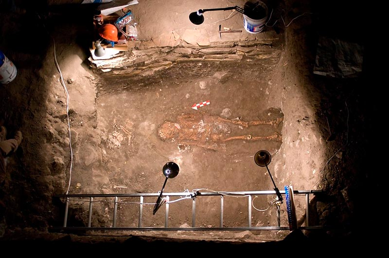 A photo released last week by Mexico's National Institute of Anthropology and History shows the inside of a pyramid where archaeologists say they have discovered the 2,700-year-old tomb, making it the oldest documented burial of a dignitary in Mesoamerica.