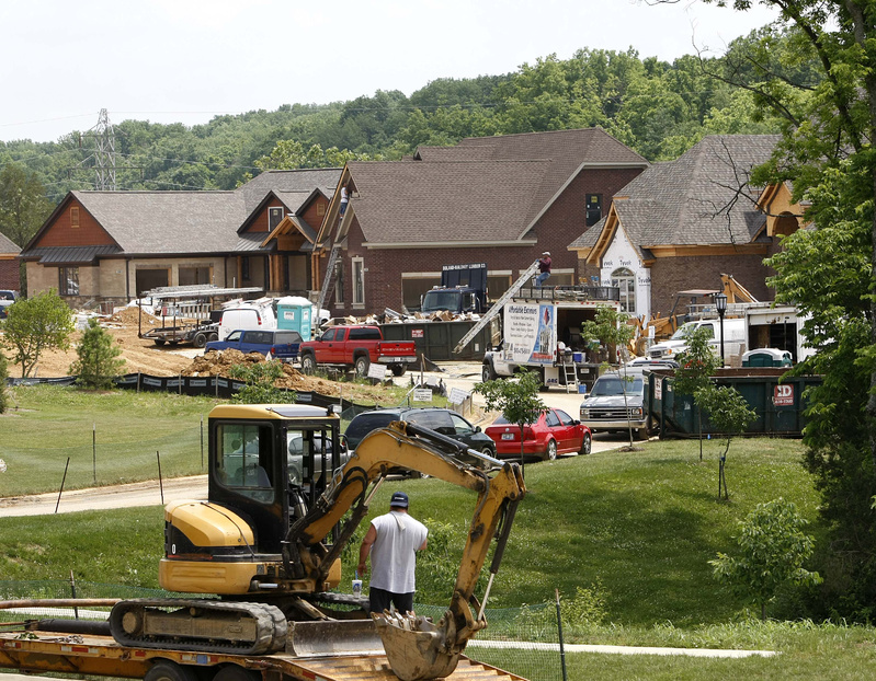 New homes rise earlier this month in a subdivision in Louisville, Ky. Sales of new homes made up about 7 percent of the housing market in 2009, down from about 15 percent before the nationwide real estate bust.