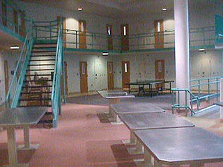 Interior of the Cumberland County Jail.