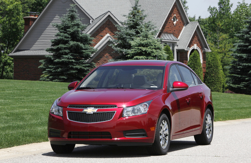 A Chevrolet Cruze pre-production model is shown in Milford, Mich.
