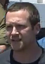 Scott Hamann, in an image from a video that was posted on YouTube following a raid by Israeli commandos on aid ships trying to reach Gaza.