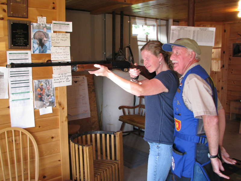Shannon Bryan practices her aim under the tutelage of shooting instructor Brad Varney.
