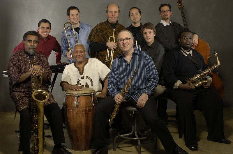 The Either/Orchestra performs a varied show of jazz, ranging from traditional to Afro-Cuban styles, in Brownfield.