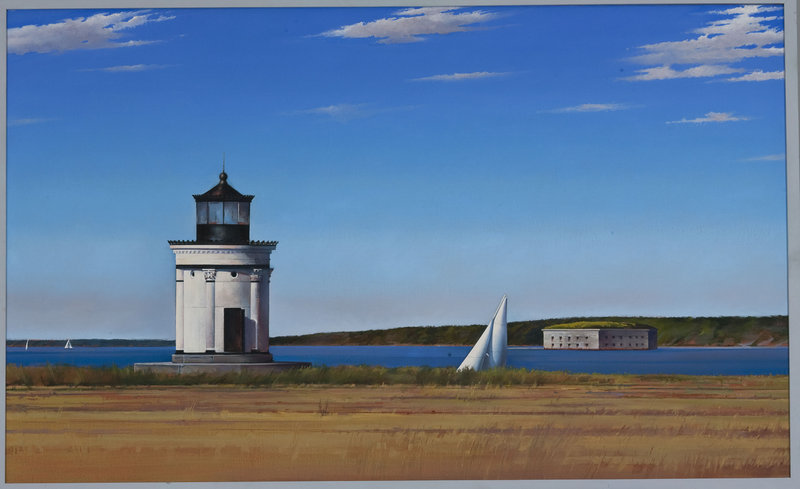 """Bug Light,"" 1987, oil on canvas, 22 by 30 inches"