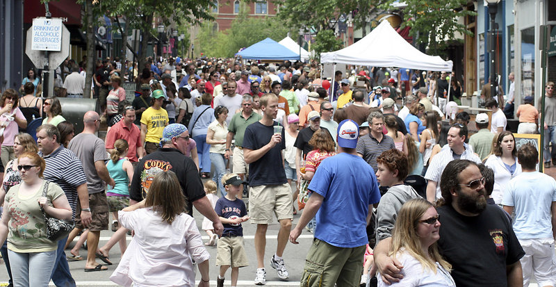 The crowds turn out for the Old Port Festival, usually in the neighborhood of 40,000.