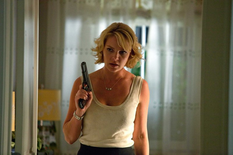 "Katherine Heigl stars with Ashton Kutcher in the action comedy ""Killers,"" a role, she said, in which ""I get to be goofy to Ashton's straight man. In my other roles, I played the neurotic, uptight girl, but I got to play something entirely different."""
