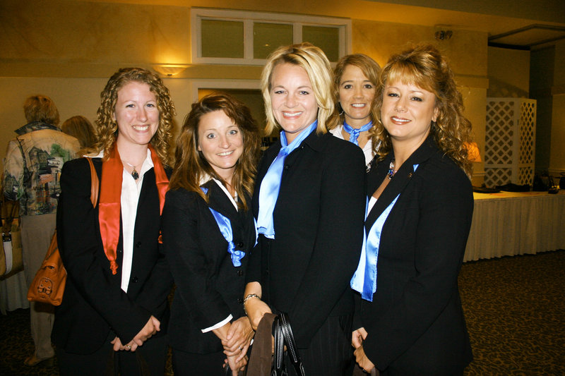 Kathrine Farris, Katherine Damon, Jody Hamilton, Renee Pottle and Sherry Norton, who are the Gorham Savings Divas