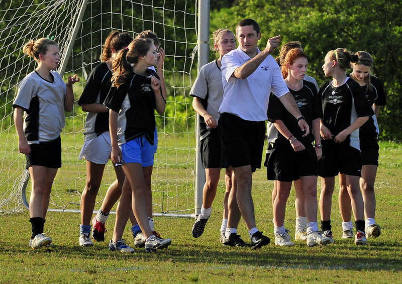 Paul Cameron may coach the Seacoast United under-15 girls' soccer team, but he's from Liverpool, and his heart will be with England against the United States next Saturday.