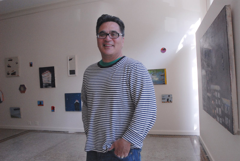 Andy Verzosa, owner of Aucocisco Galleries on Exchange Street, who introduced the art walk to Portland in 2000.