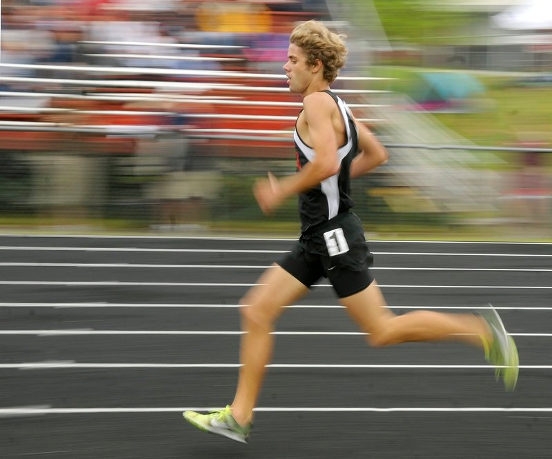 No matter the event, Will Geoghegan of Brunswick must have seemed like a blur to his rivals, winning three distance events as the Dragons captured the Class A championship.