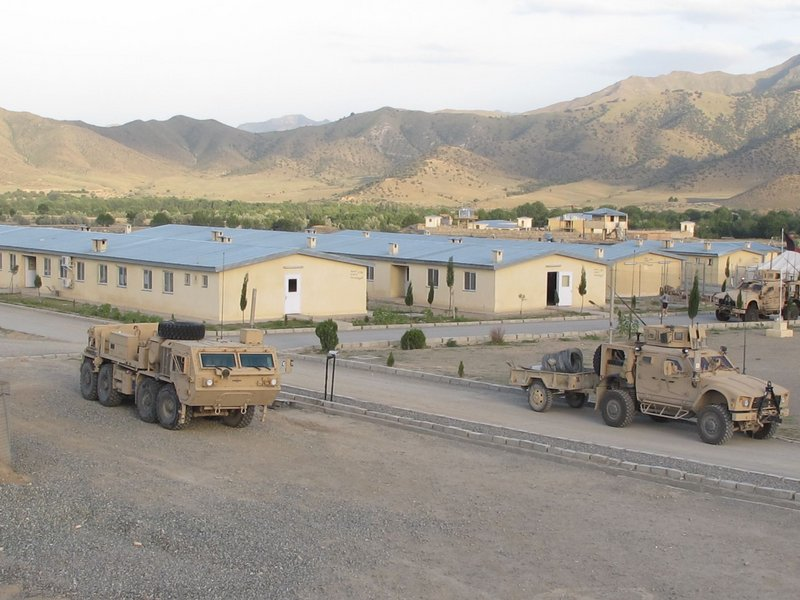 A view of Combat Outpost Dand wa Patan, home base for the Maine Army National Guard's Bravo Company, 3rd Batalion, 172nd Mountain Infantry, on the border between Afghanistan and Pakistan.