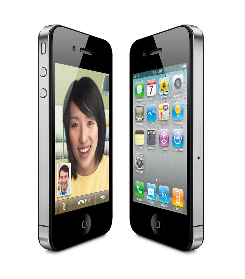 A product image provided by Apple Inc., shows the new Apple iPhone 4.