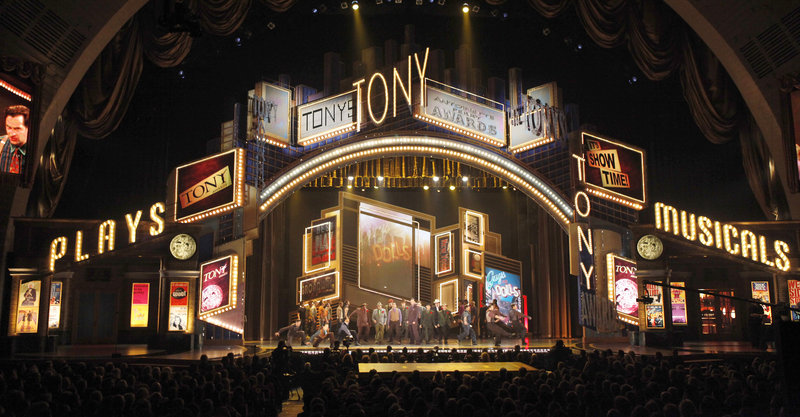 The Tony Awards will air live from Radio City Music Hall in New York beginning at 8 tonight.