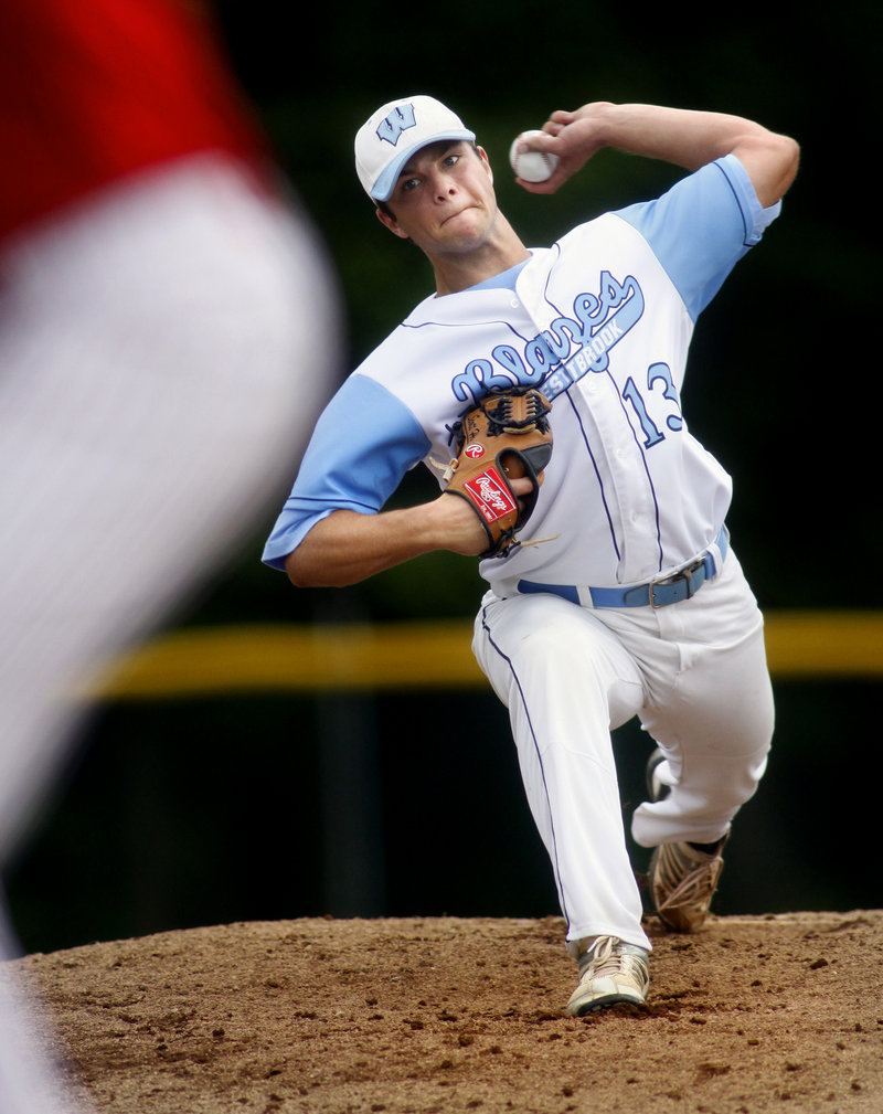 Scott Heath of Westbrook, who was named the Telegram League most valuable player, struck out eight in a three-hitter Friday to lead the Blue Blazes to a 4-0 win over South Portland in a Western Class A quarterfinal.