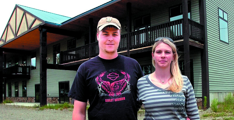 Luke Sirois and his wife, Lisa, have the town's go-ahead to use this Wilton building if the state approves their application to run four medical marijuana dispensaries.