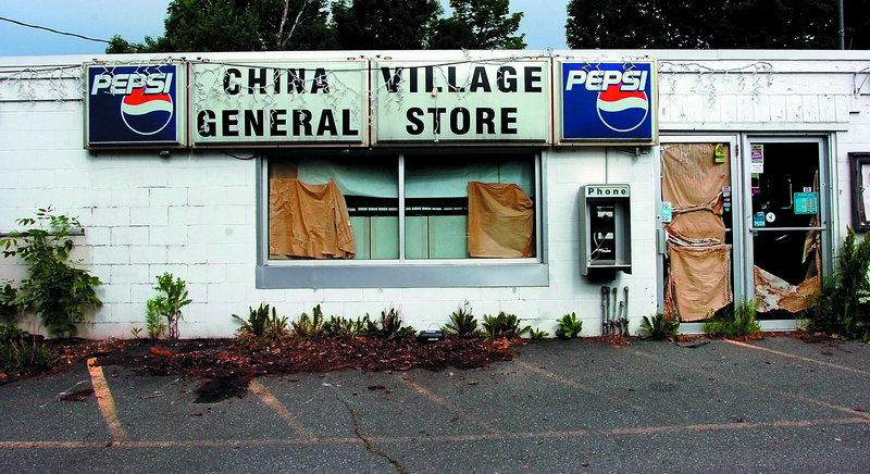 The former China Village General Store now has rats living in and around the Main Street building, where containers of food inside have been knocked off shelves and opened.