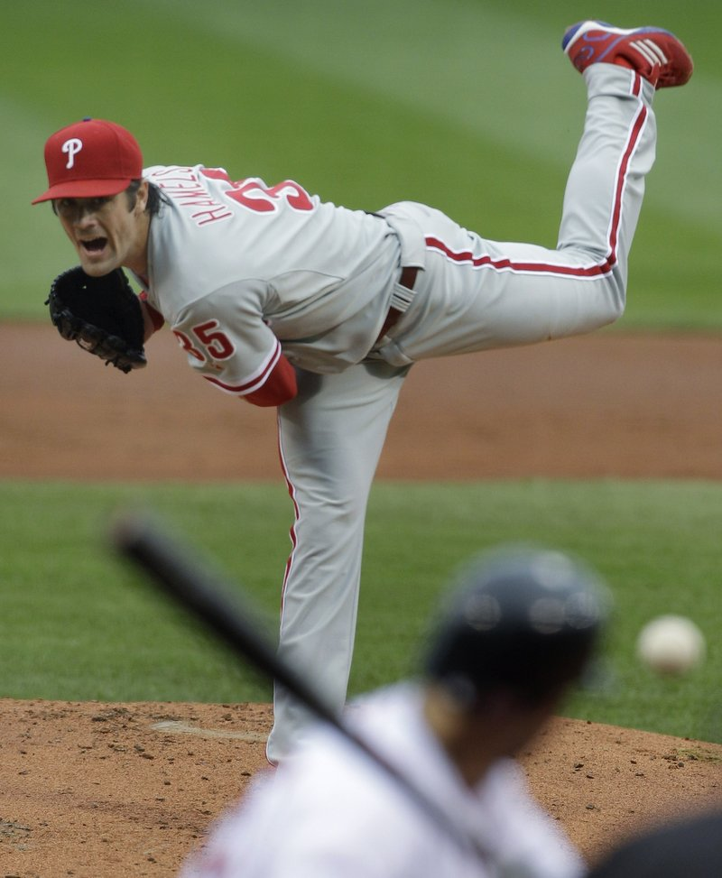 Cole Hamels gave up one run and five hits, struck out eight and walked two Sunday. The Phillies were 2-4 against the Sox this season, and Hamels had both wins.