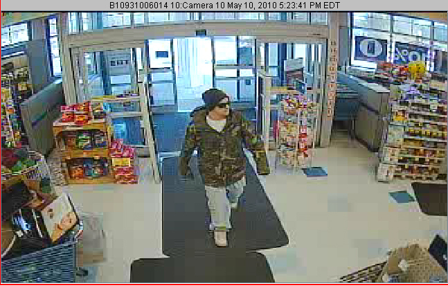 An offer of $1,000 has already generated telephone tips related to this robbery of the Rite Aid at 665 Roosevelt Trail in Naples on May 10. Detectives are following up on those leads.