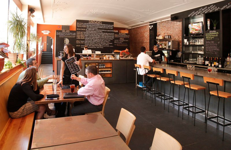 Nosh Kitchen Bar at 551 Congress St. in Portland has an appealing sandwich menu and charcuterie offerings after 4:30 p.m.
