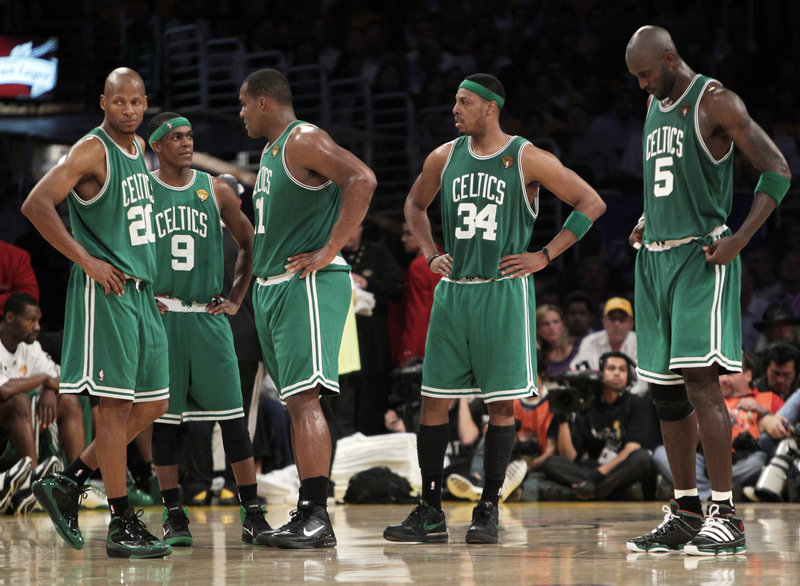The Celtics' offense Tuesday night amounted to a lot of standing around. And because they scored the second-fewest points in an NBA finals game, a chance to win the championship was lost and the series against the Los Angeles Lakers has been extended to a Game 7 on Thursday.