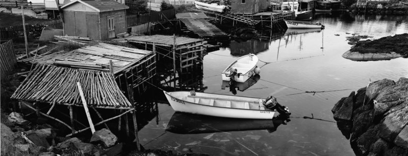 """Thaddeus Holownia's """"Burnt Island, Newfoundland,"""" from his photography show in Eastport."""