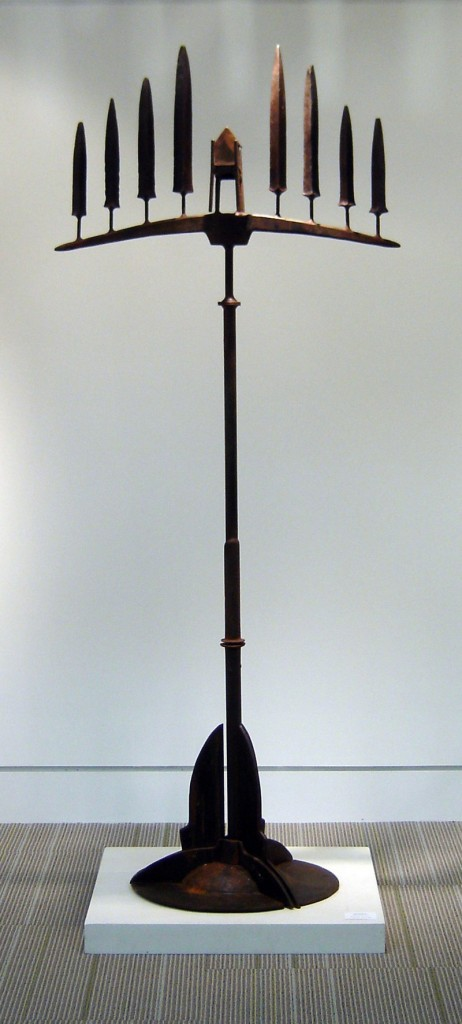 "Patrick Plourde, ""Monhegan,"" steel, 72 inches."